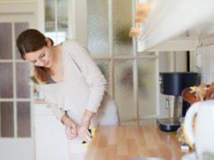 table top di dapur agar terlihat semakin menawan