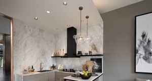dekorasi kitchen set apartemen