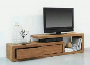 meja kayu untuk televisi