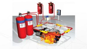 fire suppression system pada alat berat